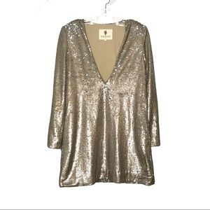 Jetset Diaries Gold Champagne Sequin Oasis Dress
